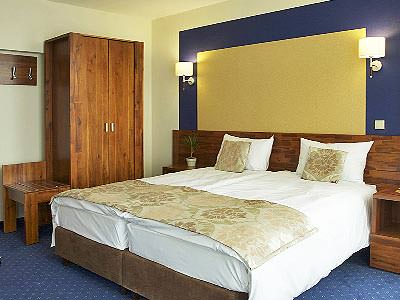 A guest room at Hotel Piast