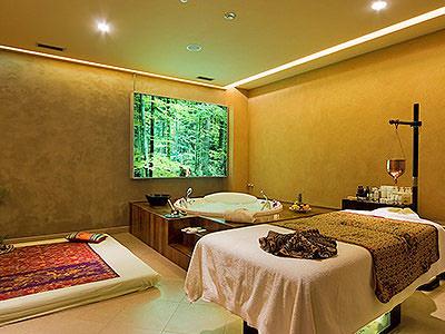 A spa treatment room