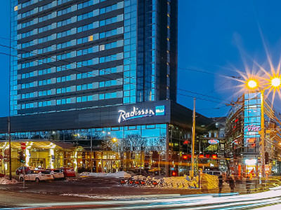 The exterior of Radisson Blu Latvia