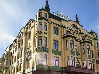 The exterior of Hotel Moskva