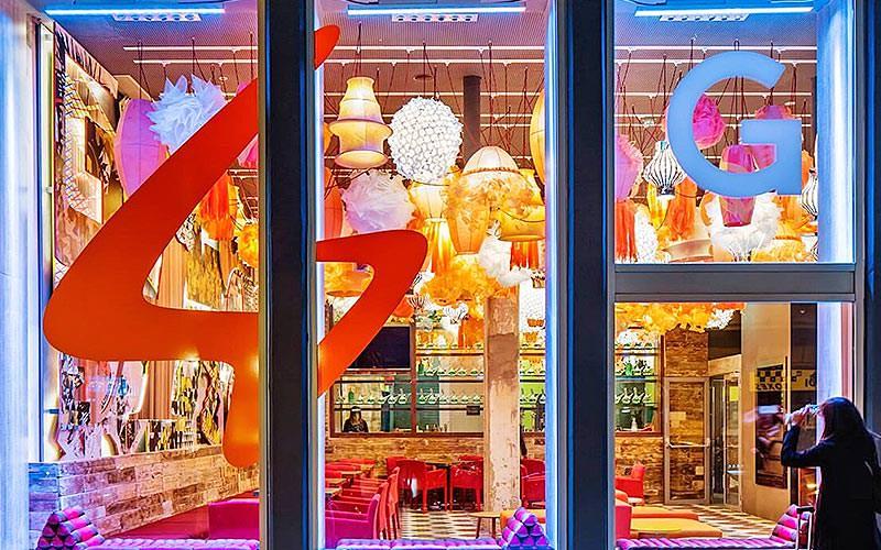 Window to the Generator Barcelona restaurant