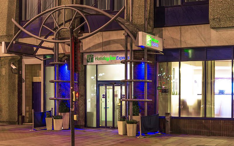 The entrance to the Holiday Inn Express in Bristol