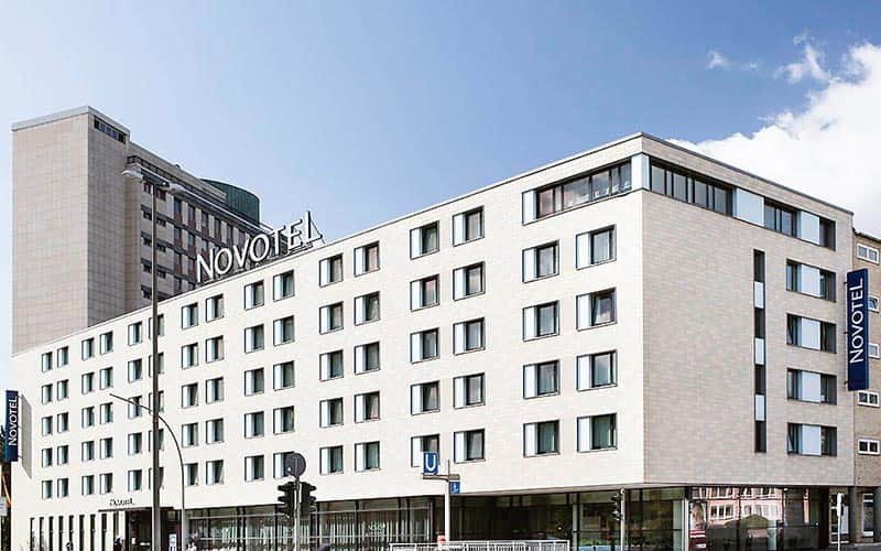 Exterior of Novotel Hamburg during the day
