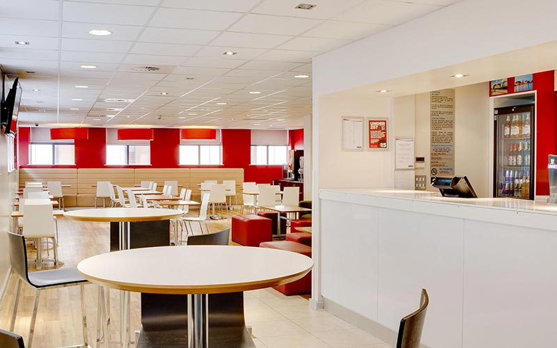 The bar at Travelodge Cardiff Queen Street