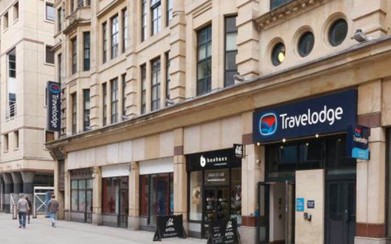 Exterior of Travelodge Cardiff Queen Street