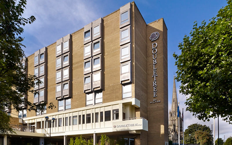 The exterior of DoubleTree By Hilton in Bristol
