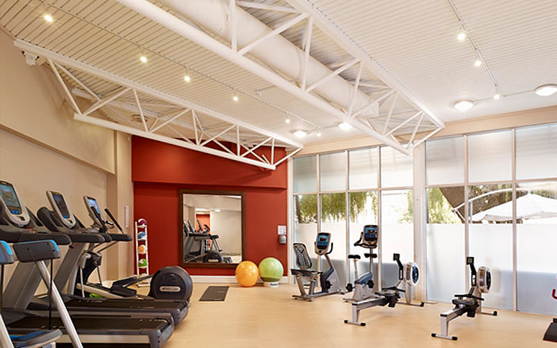 The gym and fitness room in DoubleTree By Hilton