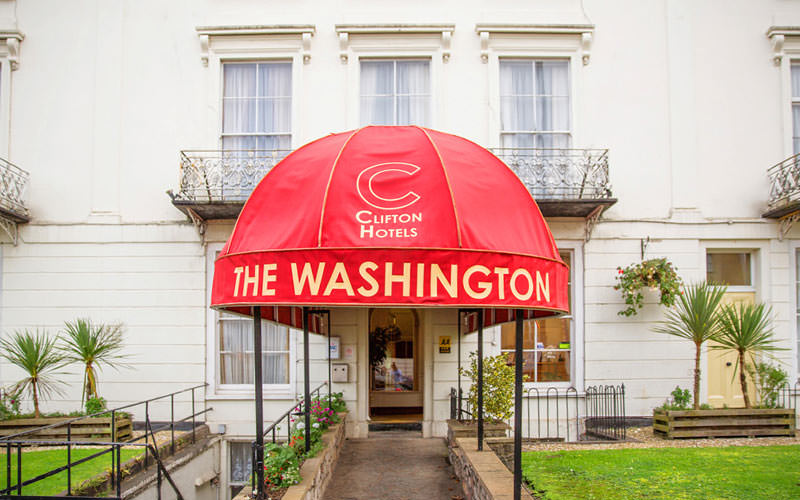 The Washington Hotel entrance exterior