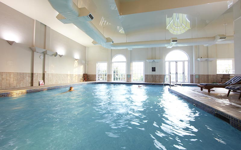 A large swimming pool