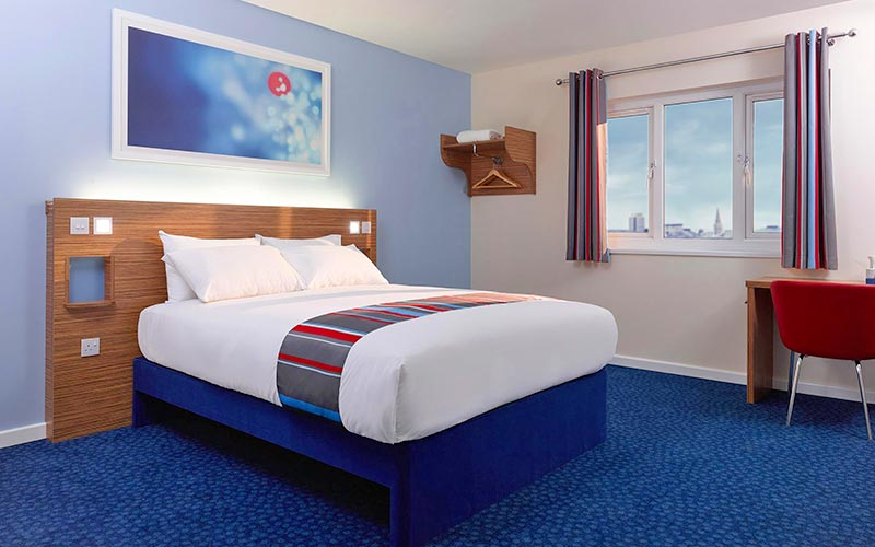 A Travelodge hotel room