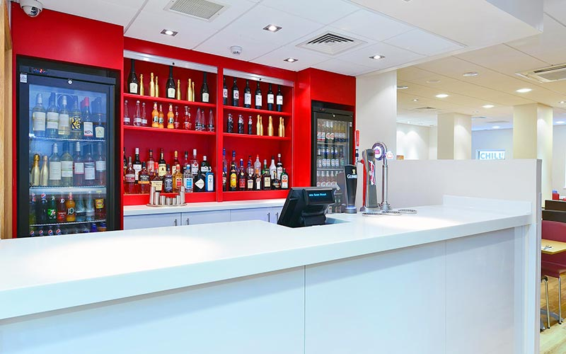 The bar at Travelodge Glasgow Queen Street