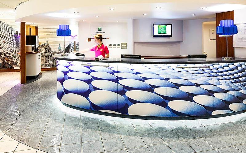 The reception area in Ibis Styles Birmingham City Centre