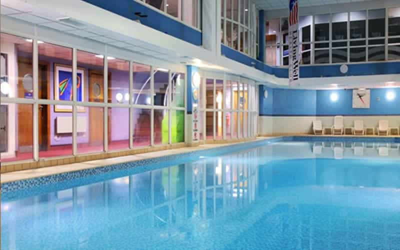 An indoor pool at Hilton Sheffield