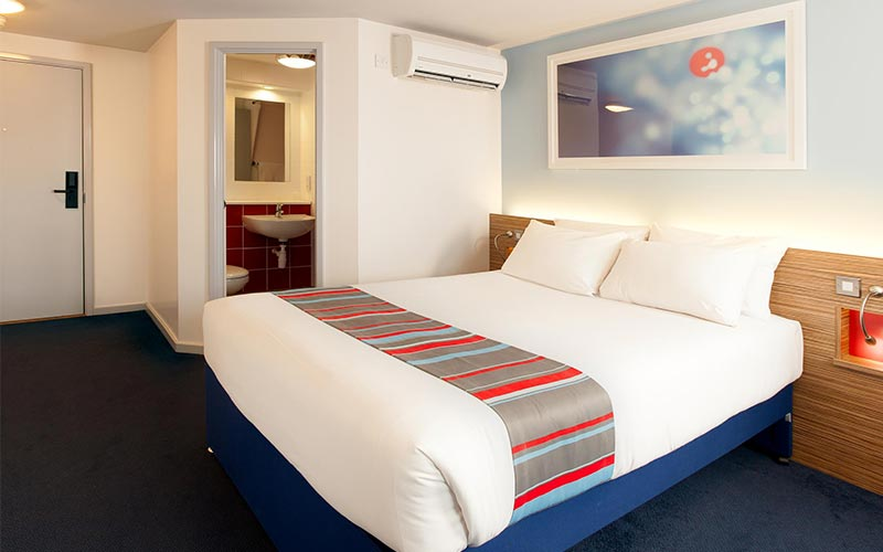 A double room at Travelodge Birmingham Central Newhall Street