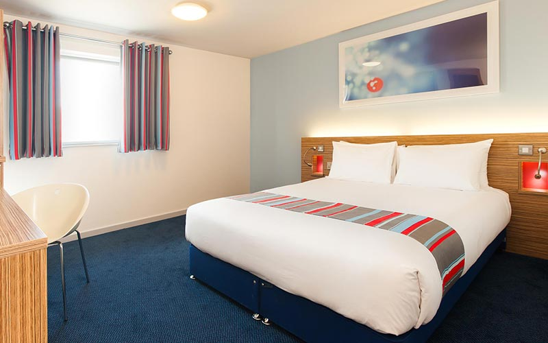 A double hotel room at Travelodge Birmingham Central Newhall Street