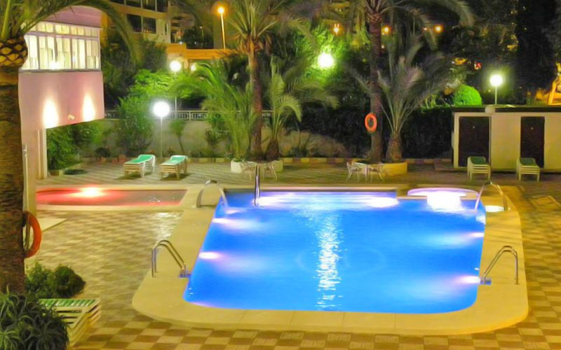 A large swimming pool at Hotel Joya
