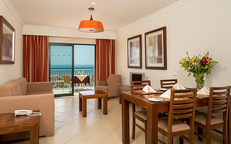 A living and dining area in an apartment at Cerro Mar Atlantico