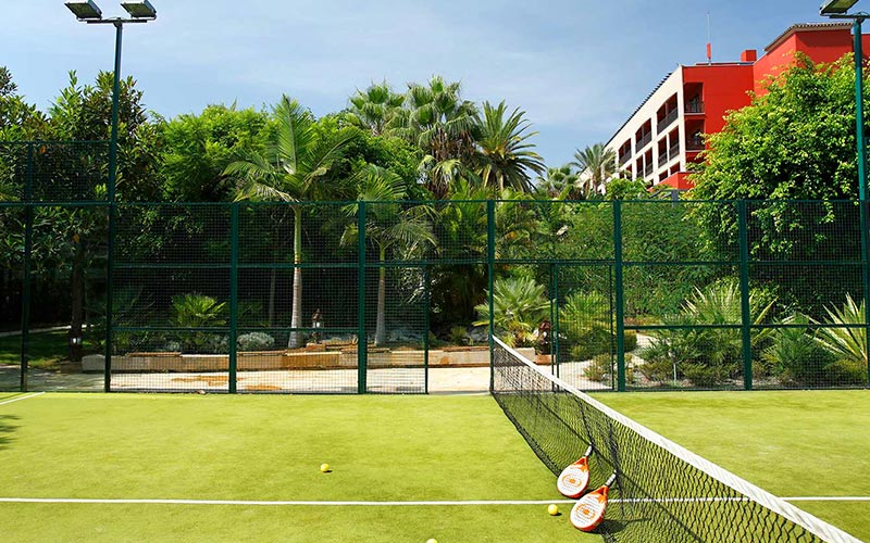 Tennis courts at Barcelo Marbella