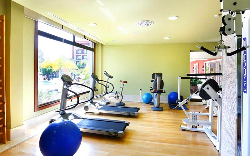 The gym at Barcelo Marbella