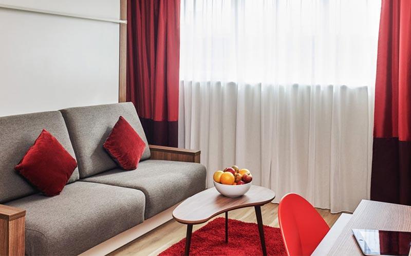 A living room within Aparthotel Adagio in Birmingham