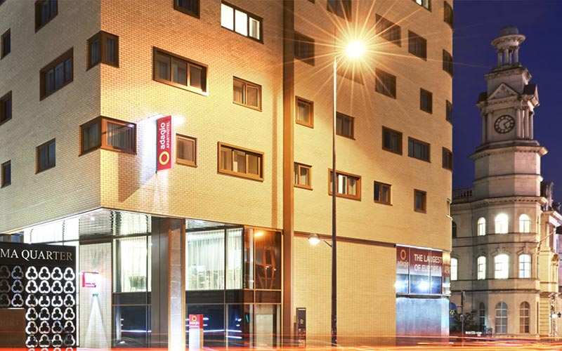 The exterior of Aparthotel Adagio Birmingham City Centre