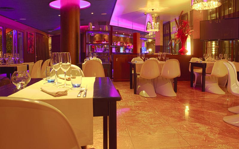The dining room in Blau Park Hotel