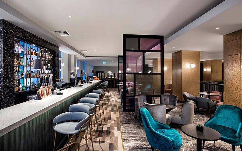 The empty bar at Hilton Edinburgh Carlton