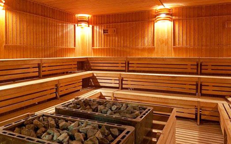 Wooden sauna at Elba Estepona Gran Hotel & Thalasso Spa