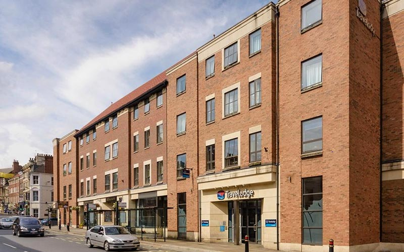 The exterior of Travelodge York Central Micklegate
