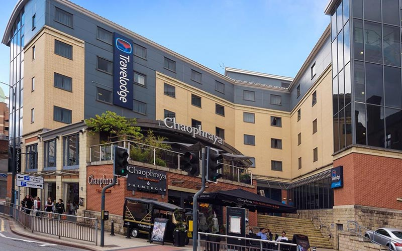 The exterior of Travelodge Leeds Central