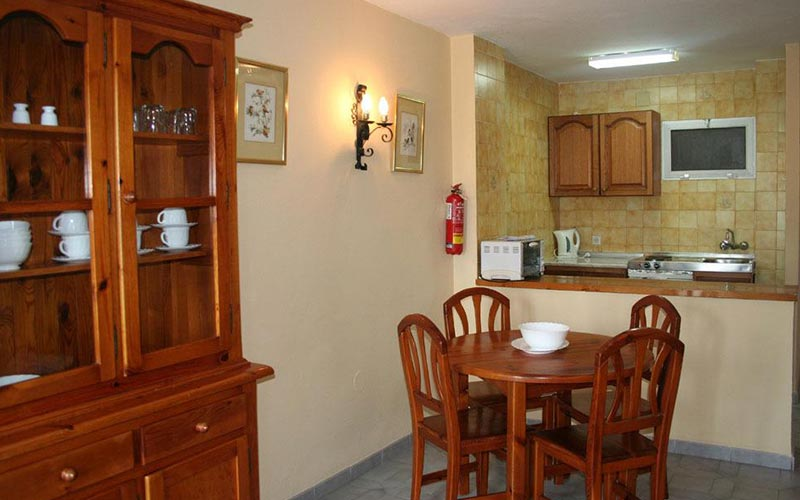 Kitchen area in Apartmentos Minerva Jupiter