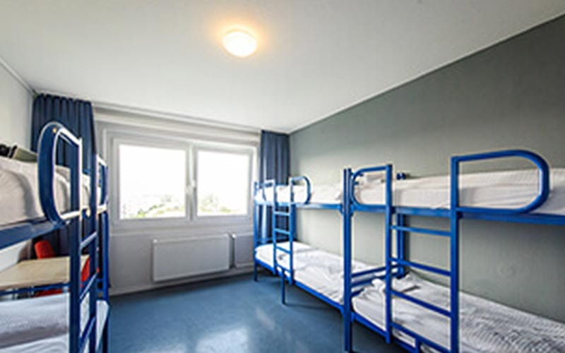 A dorm room in A&O Berlin Kolumbus