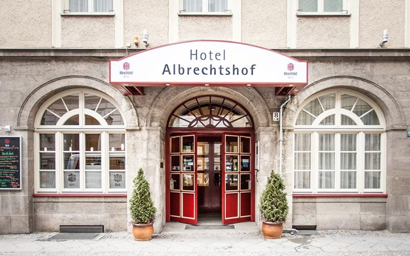 The exterior of Hotel Albrechtshof