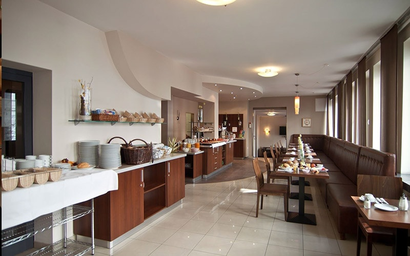 The breakfast area in Novum Hotel Eleazar City Centre