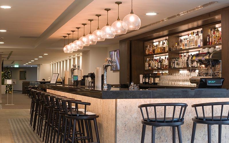 A bar at DoubleTree Hilton