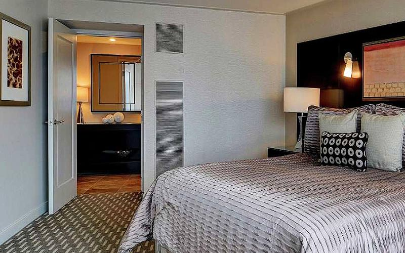 A double guest room at the ARIA resort