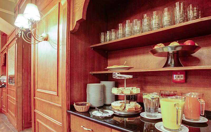 Part of the breakfast buffet at Hotel Europejski