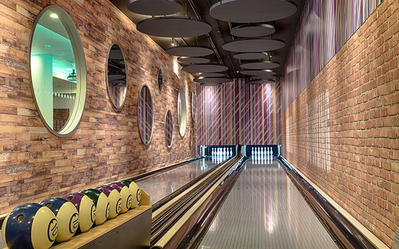 The bowling alley at Courthouse Hotel Shoreditch