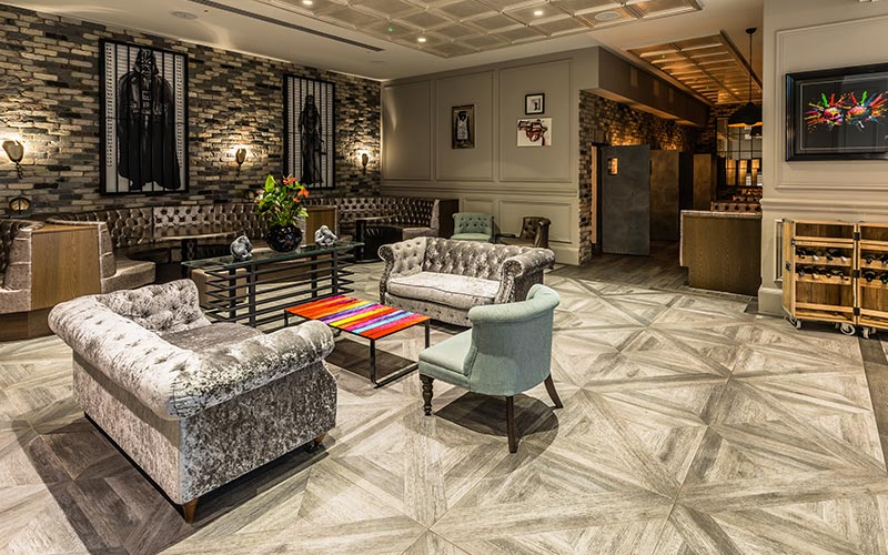 A living area at Courthouse Hotel Shoreditch