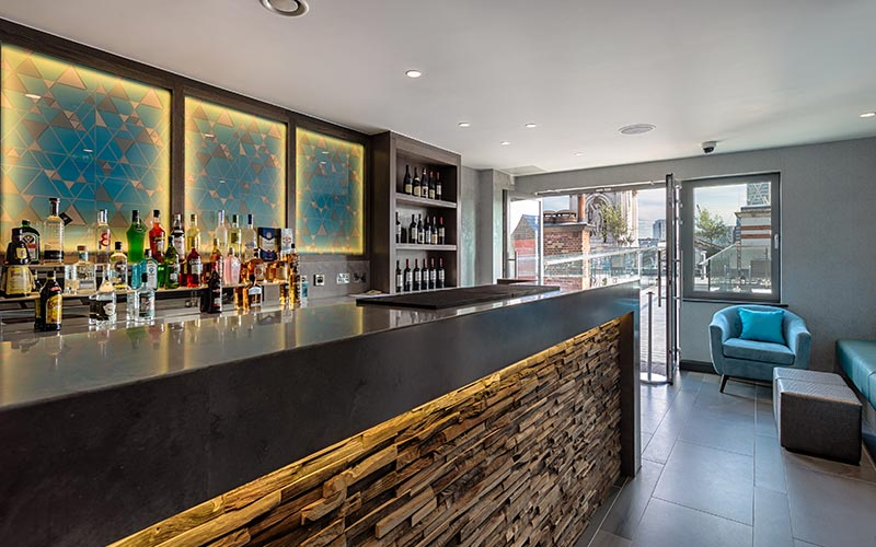 The roof terrace bar at Courthouse Hotel Shoreditch