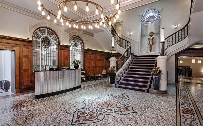 The lobby at Courthouse Hotel Shoreditch