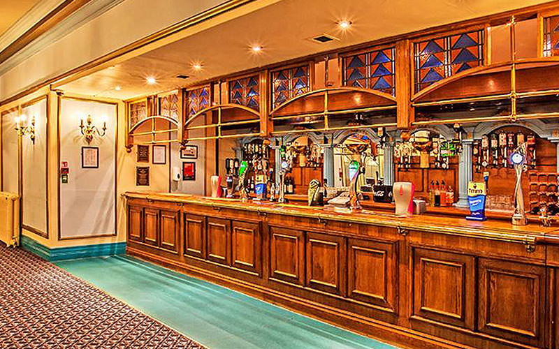 The bar area in The Savoy Hotel, Blackpool