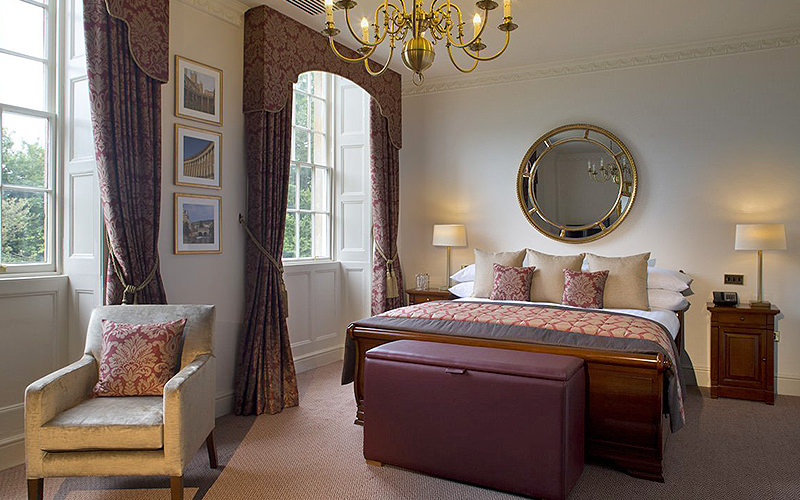 A double bedroom in Bailbrook House Hotel