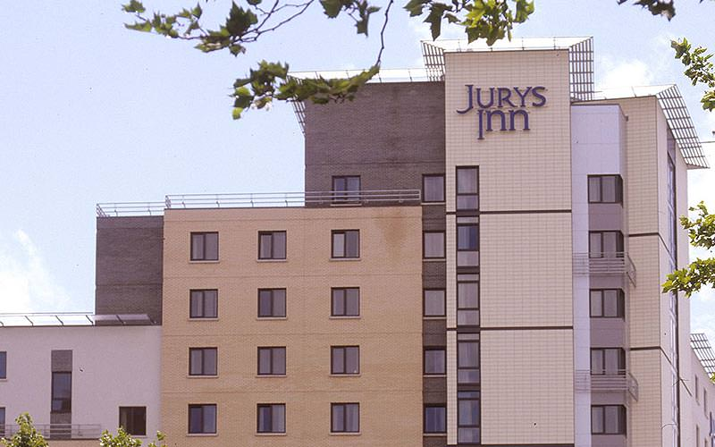 The exterior of Jurys Inn in Southampton
