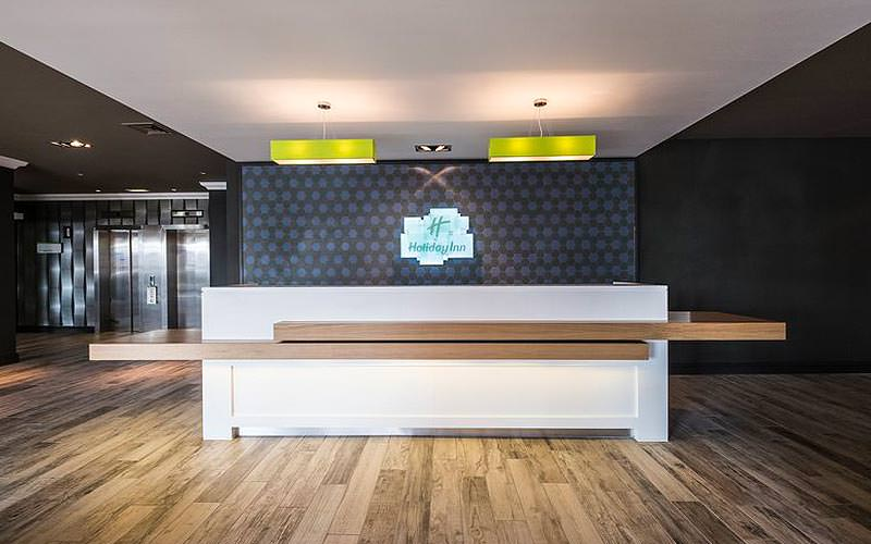 The reception desk at Holiday Inn, Southampton