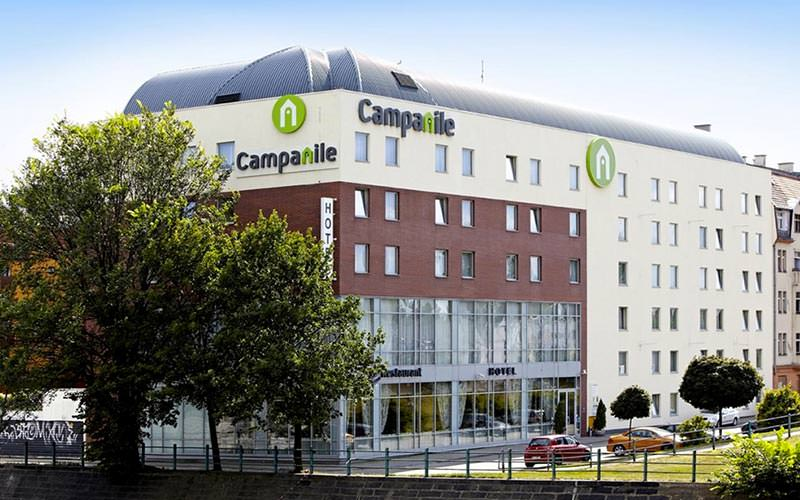 The exterior of Hotel Campanile