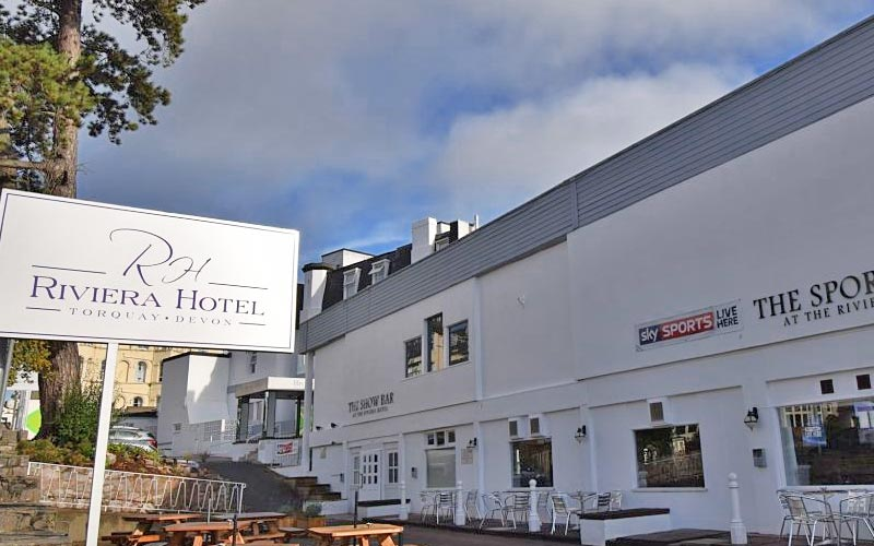 The exterior of the Riviera Hotel in Torquay
