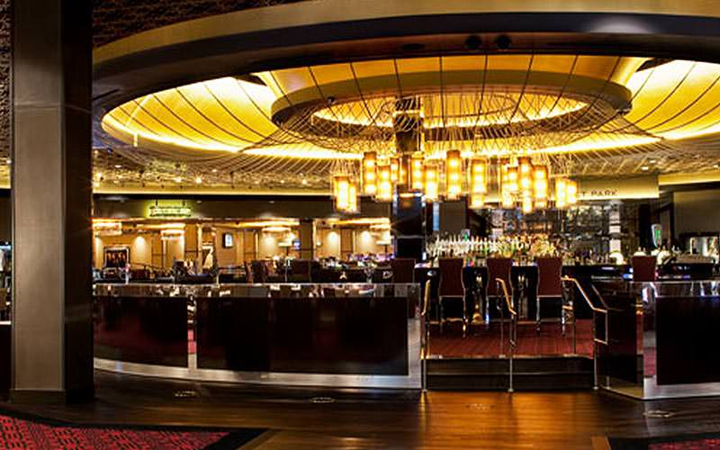 The casino floor and bar at the Hard Rock Hotel & Casino