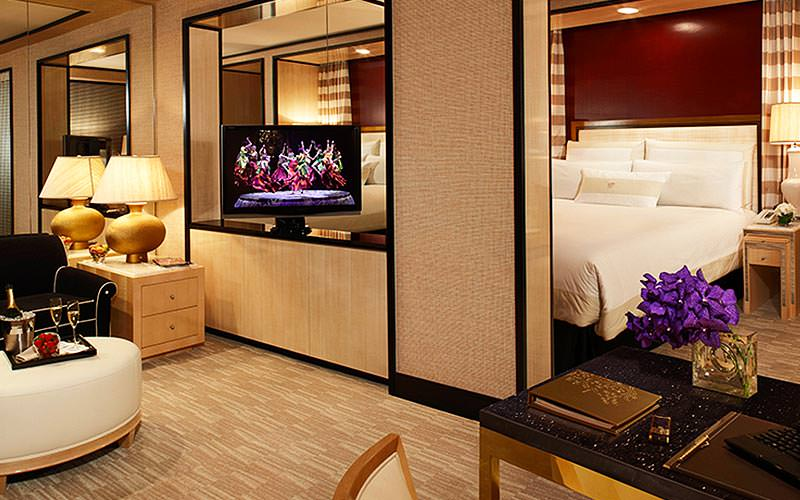 A large suite room at the Wynn Hotel