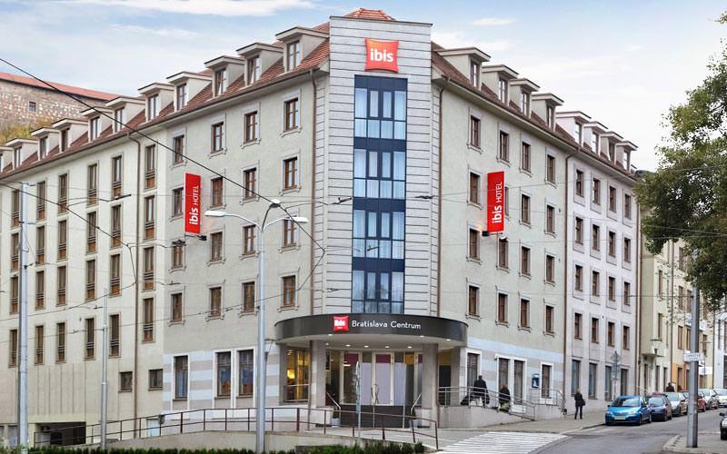 Exterior shot of the Ibis Bratislava Centrum Hotel